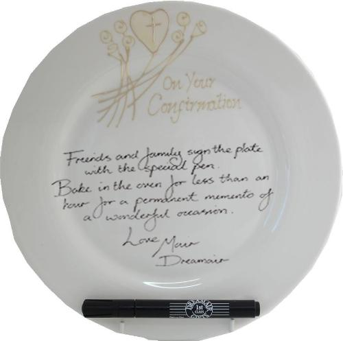 Confirmation Plate Round