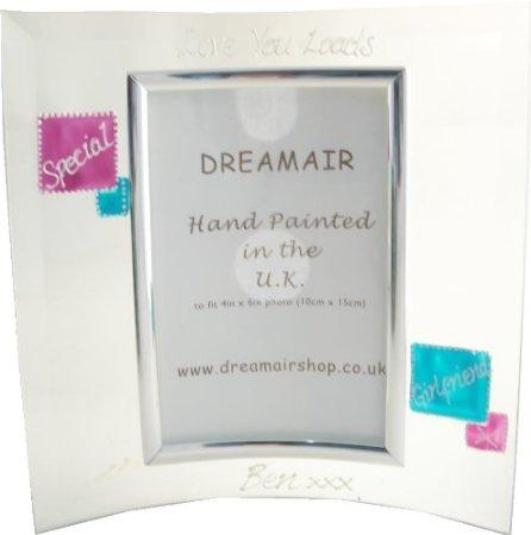 Personalised Special Girlfriend Photo Frame Portrait (Mag/Teal)