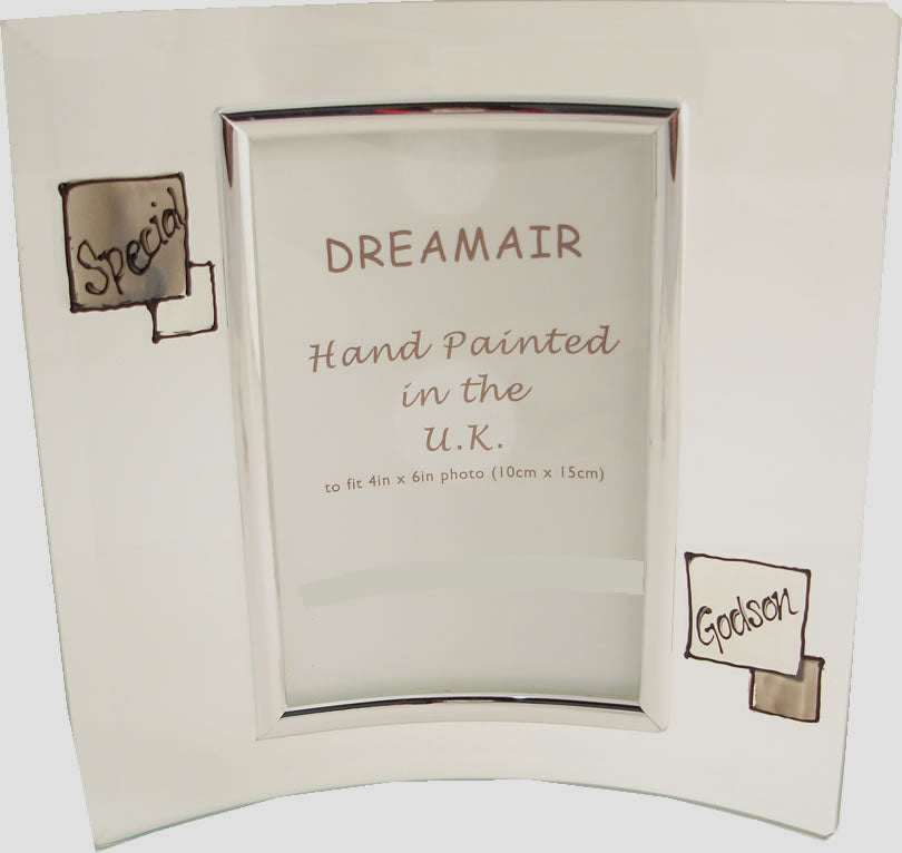 Special Godson Gift Photo Frame Portrait (Grey Sq) – dreamair.co.uk