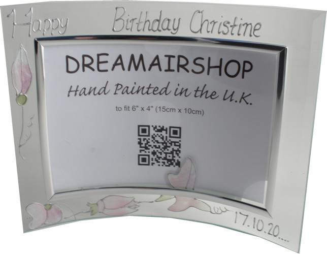 Personalised 50th birthday Sweet Pea Land Frame