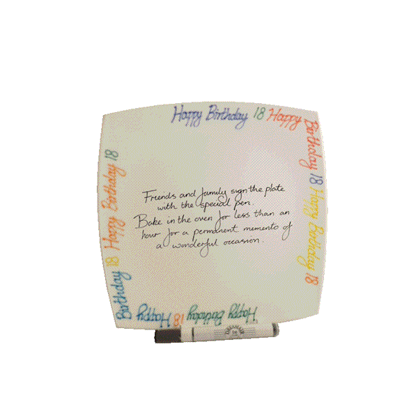 18th Birthday Gift Square Plate Brights