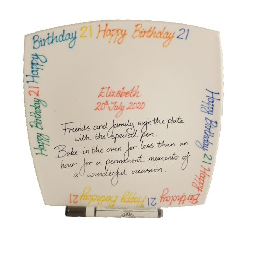 Personalised 21st Birthday Square Plate