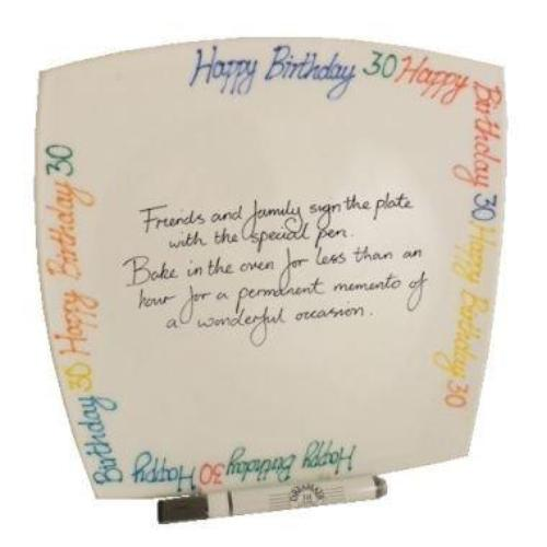 30th Birthday Gift Square Plate Brights