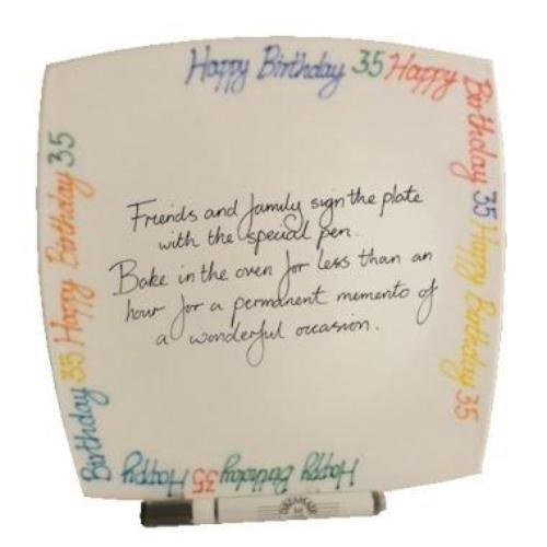 35th Birthday Gift Square Plate Brights