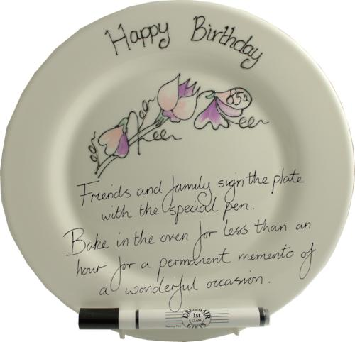 85th Birthday Round Plate Sweet Pea