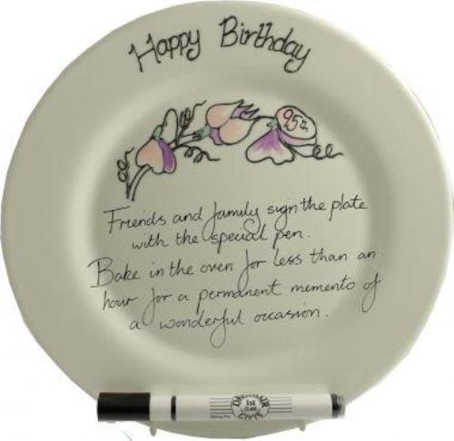 95th Birthday Gift Square Plate Sweet Pea