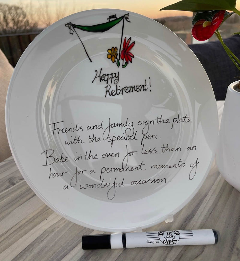 Retirement Signed and Sealed Plate (Round