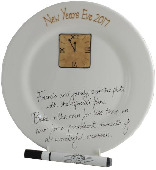 New Year Eve Round Signature Plate