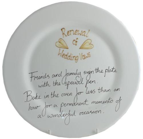 Renewal of Vows Round Plate