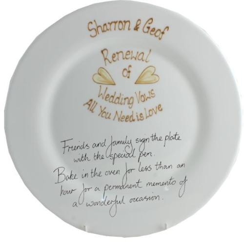 Personalised Renewal of Vows Round Plate