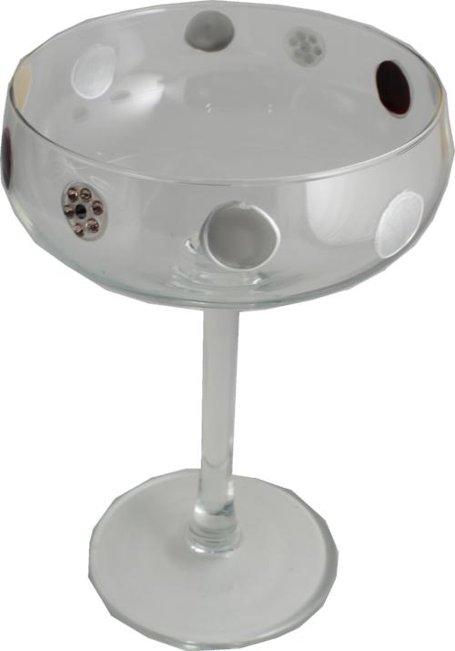 Champagne Glass Luxury with Crystals: