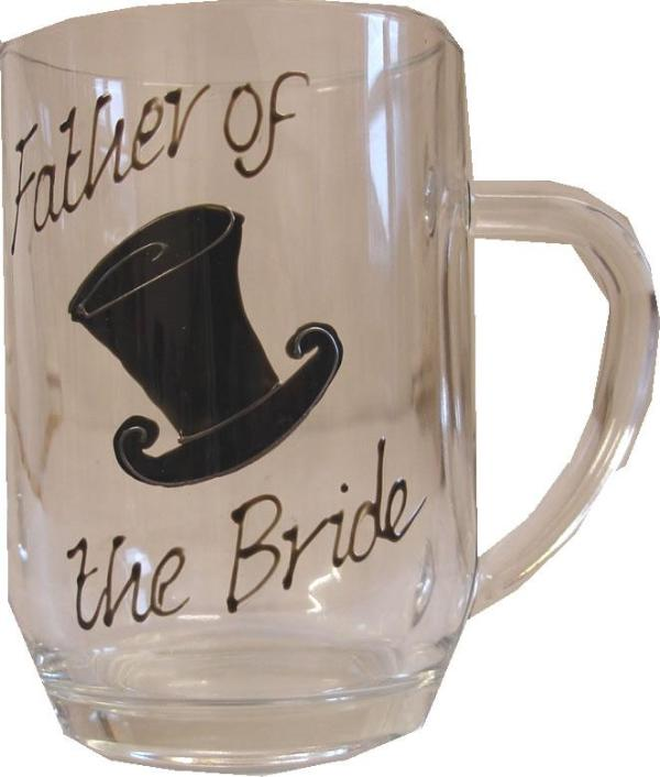 Father of the Bride Tankard Glass (Top Hat)