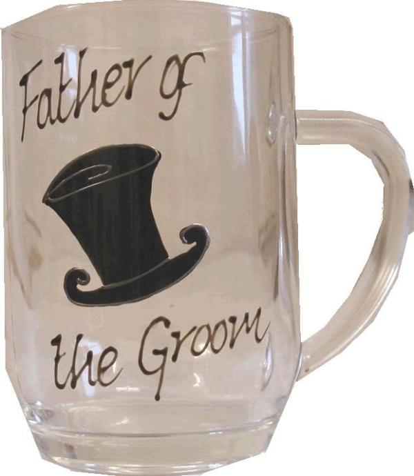Father of the Groom Tankard Glass (Top Hat)