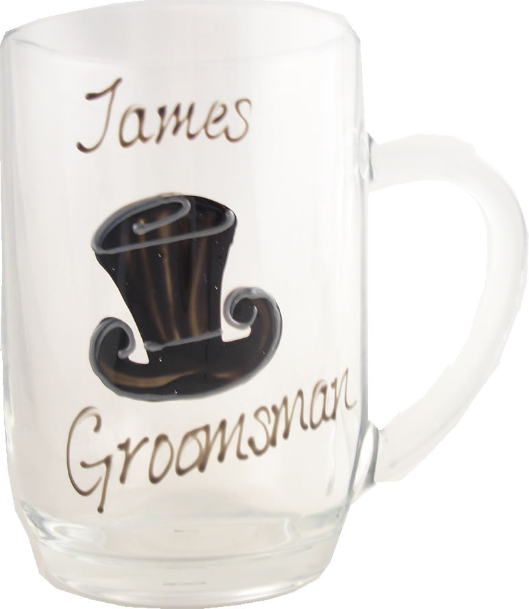 Personalised Groomsman Tankard (Top Hat)