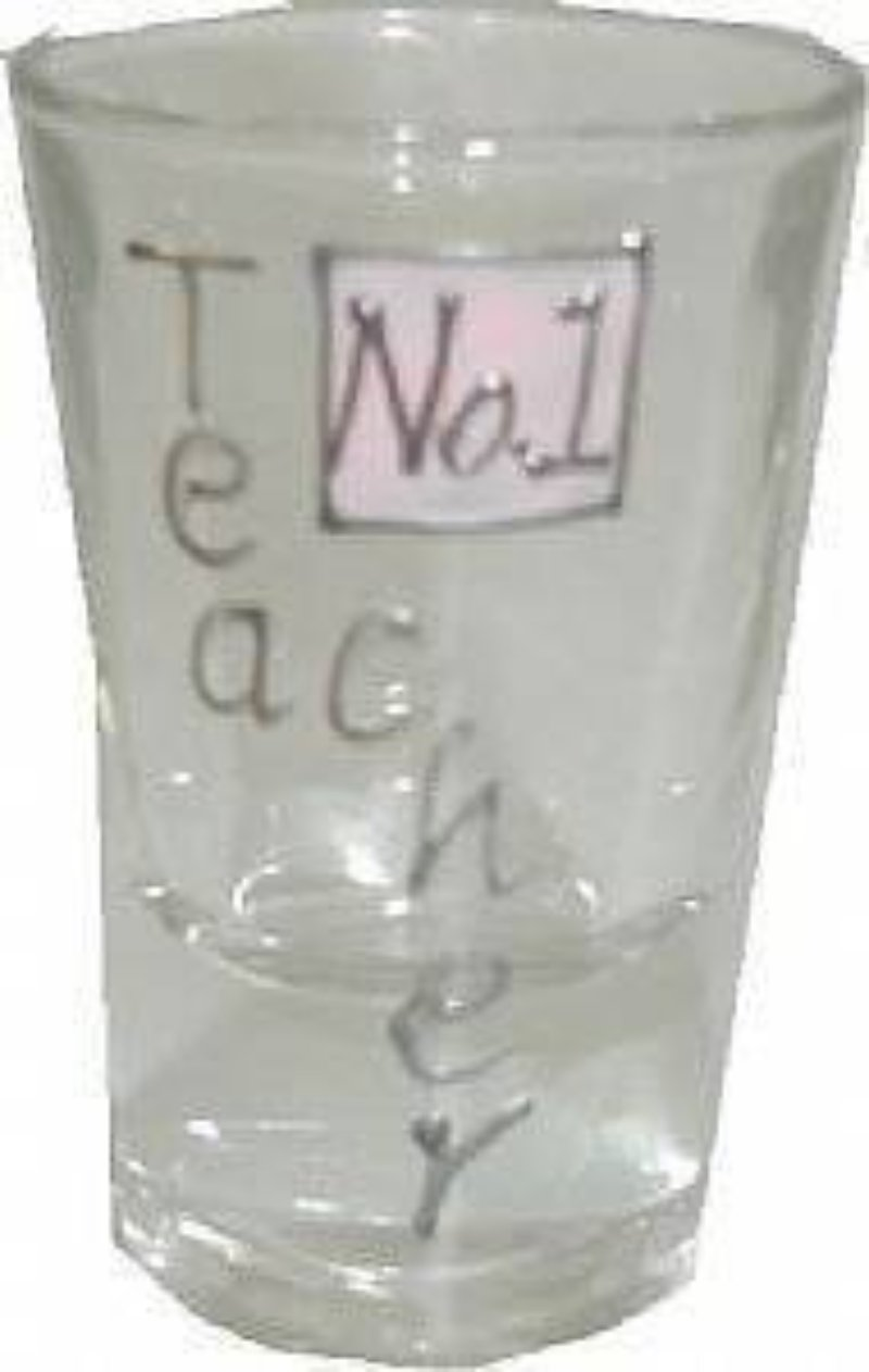 Teacher Gift Drinking Shot Glass: Sml (Pink