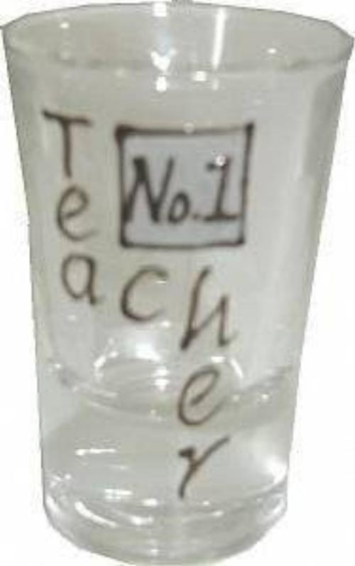 Teacher Gift Drinking Shot Glass: Sml (Grey)