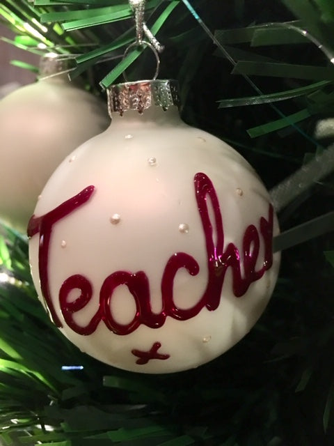 Teacher Gift Xmas Bauble