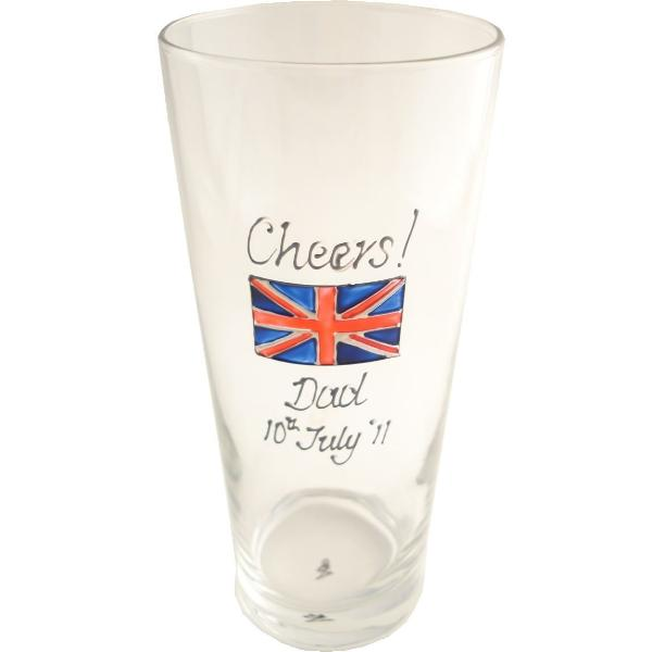 Personalised Union Jack Gift Pint Glass: