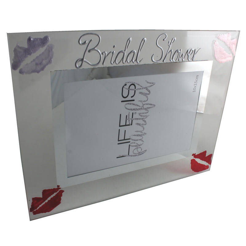 Bridal Shower Gift Photo Frame: Landscape (Lips)