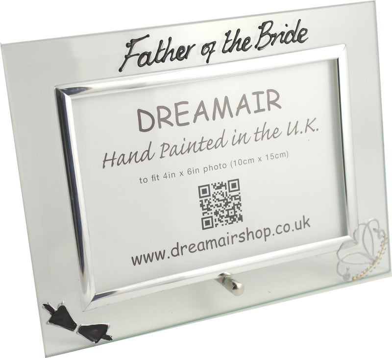 Father of the Bride Photo Frame Land (Bow & Tiara)