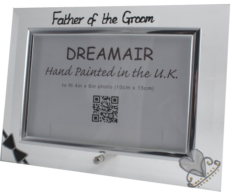 Father of the Groom Photo Frame Land (Bow & Tiara)