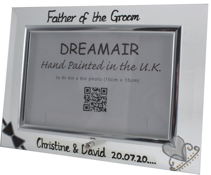 Personalised Father of the Groom Photo Frame Land (Bow & Tiara)