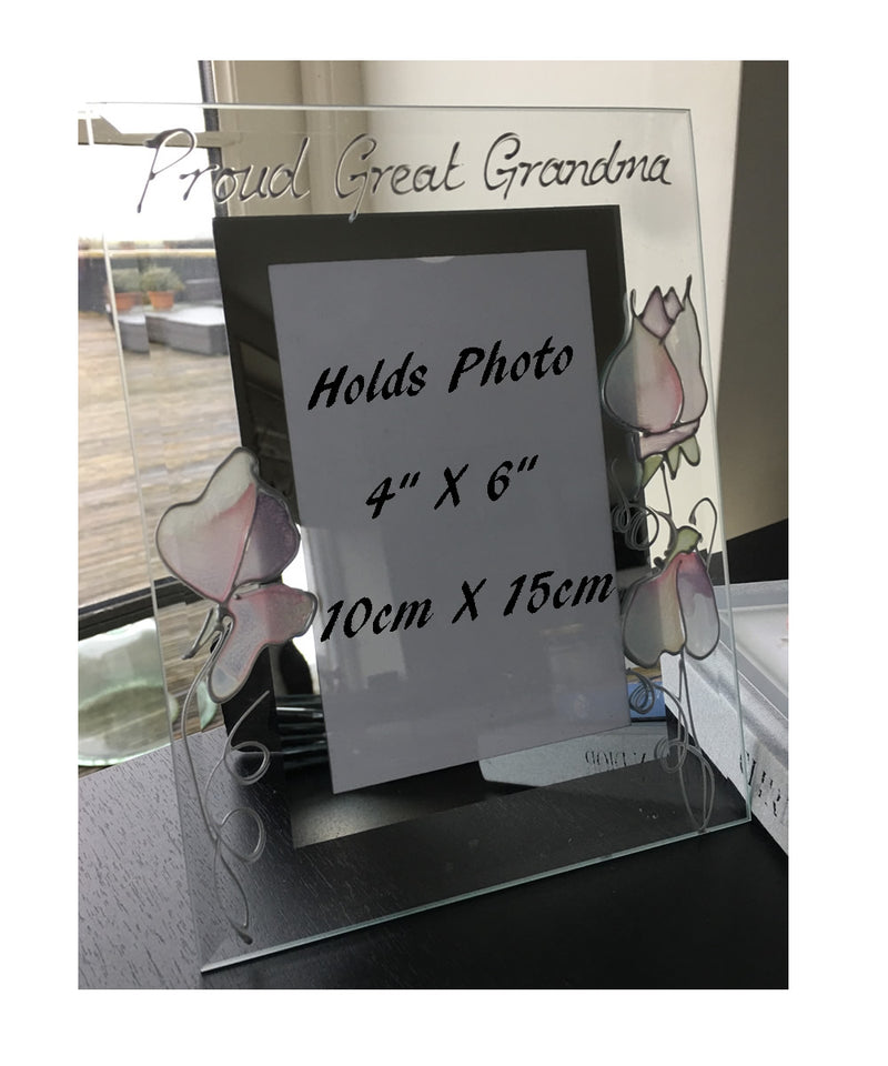 Proud Great Grandma Photo Frame: Portrait (Sweet Pea)