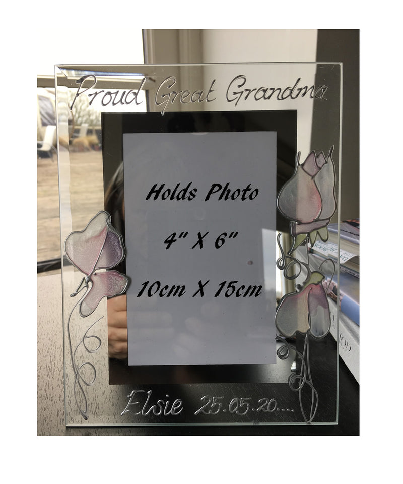 Personalised Proud Great Grandma Portrait Picture Frame
