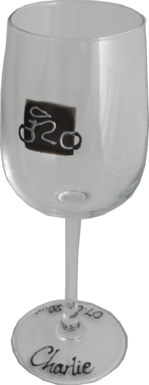Personalised Gift Cycling Wine Glass: