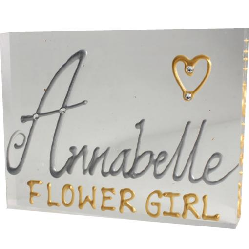 Flower Girl Gift Art Block: