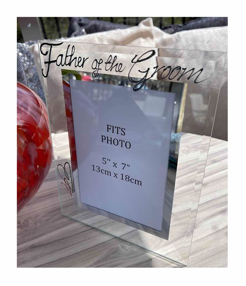Father Of The Groom Large Portrait Picture Frame Black