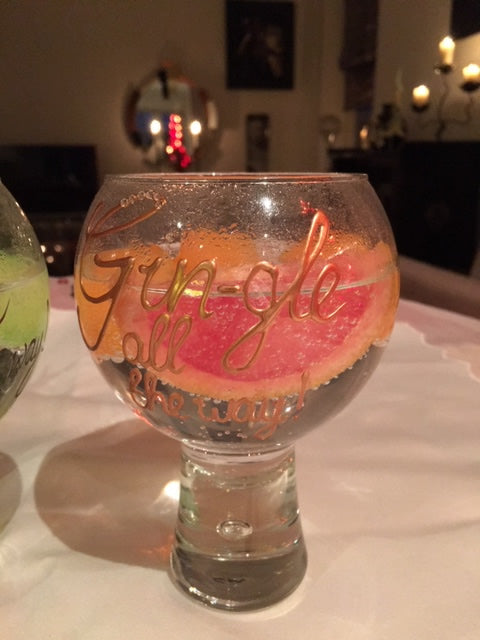 Gin and Tonic Gift Glass: Copper with crystals Gin-gle all the way