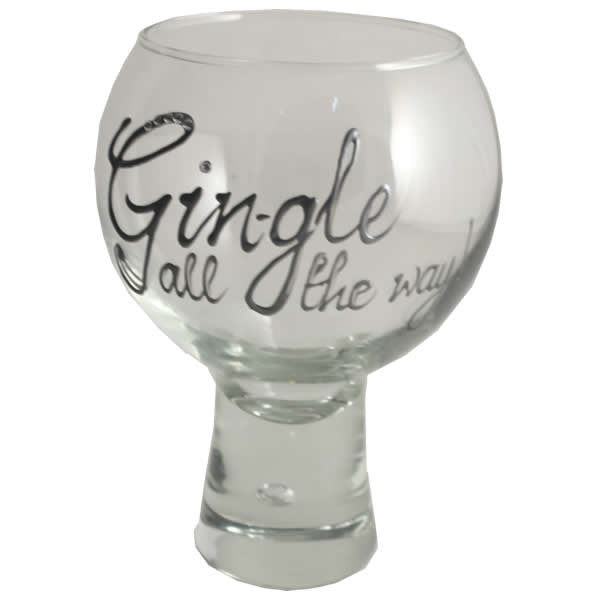 Gin-gle all the way Gin and Tonic Glass Silver with crystals