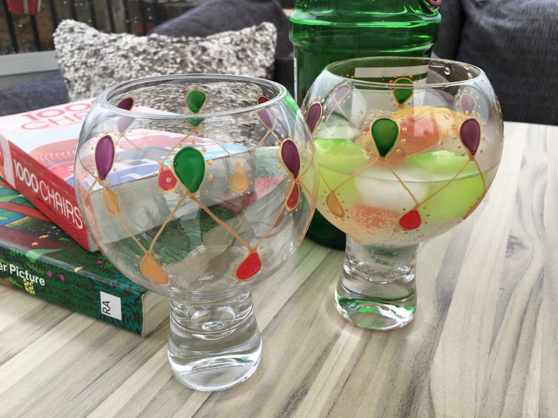 Gin & Tonic Glass Gold Garland x 2