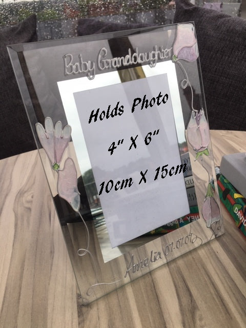 Baby Granddaughter Gift Picture Frame Portrait: (Sweet Pea)