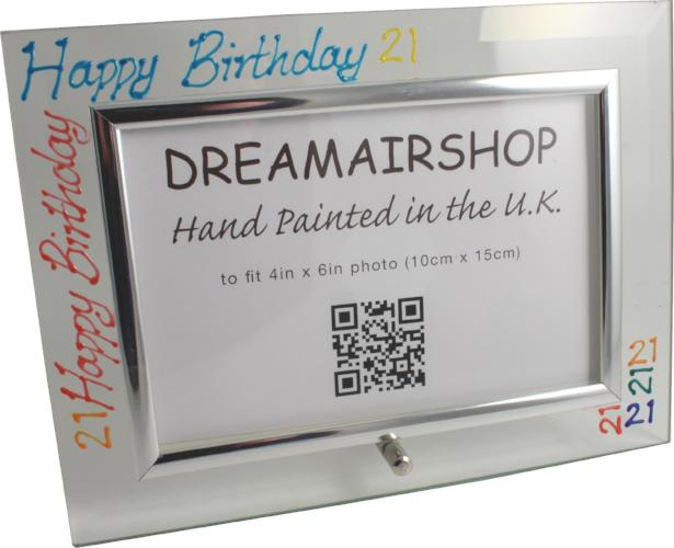 21st Birthday Photo Frame Land Brights