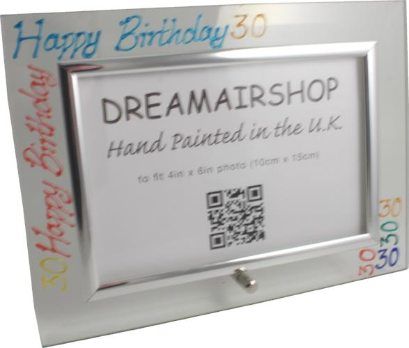 30th Birthday Photo Frame Land Brights