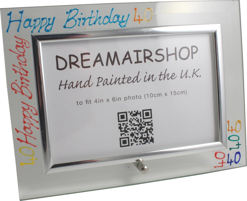 40th Birthday Photo Frame Land Brights