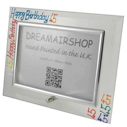 45th Birthday Photo Frame Land Brights