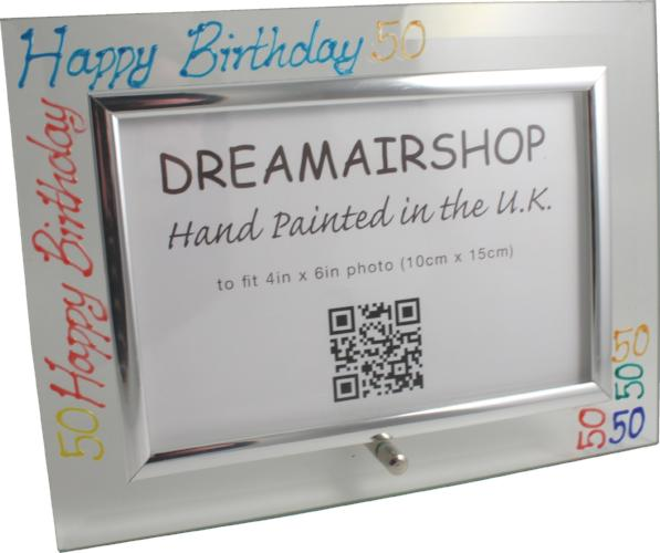 50th Birthday Photo Frame Land Brights