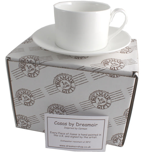 Retirement Gift Fine Bone China Cup and Saucer