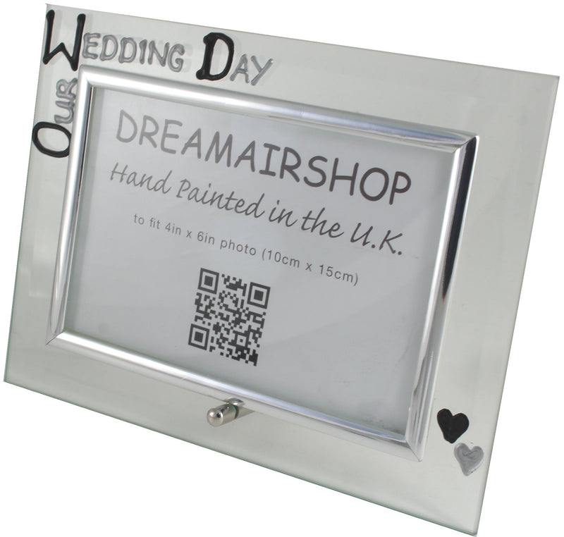 Wedding Day Photo Frame Land Blk/Sil