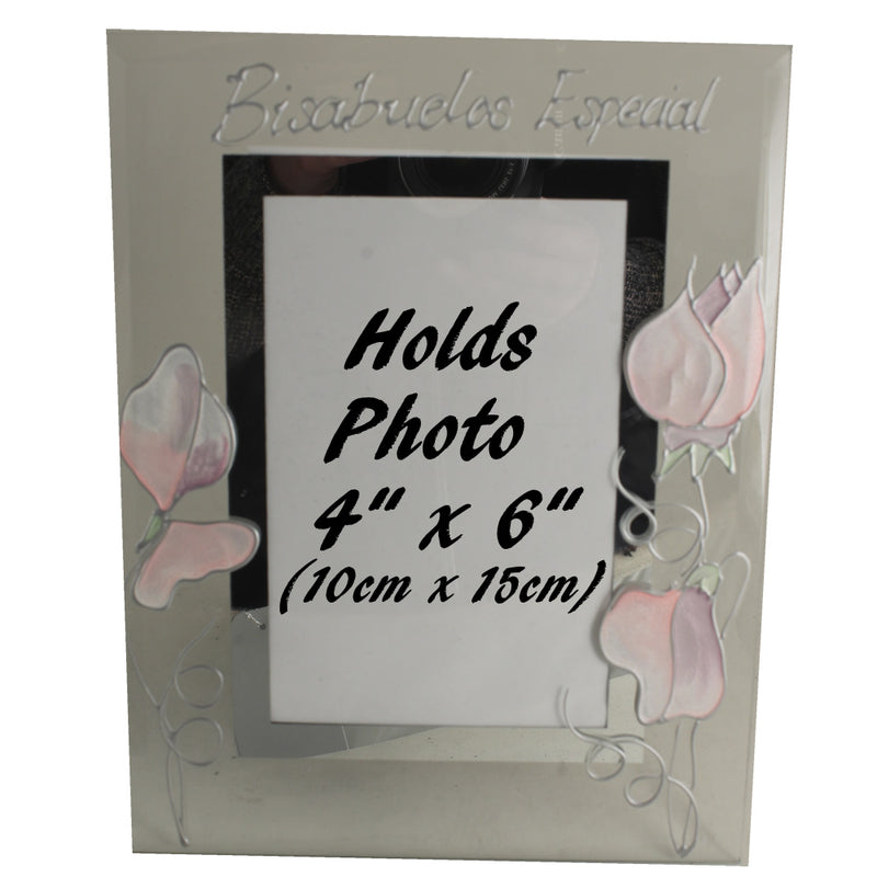 Bisabuelos Especiales foto marco retrato - Special Great Grandparents Photo Frame (Sweet Pea)