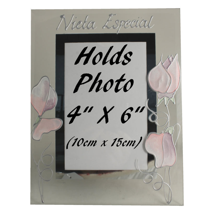 Nieta Especial foto marco retrato - Granddaughter Photo Frame (Sweet Pea)