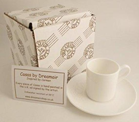 Personalised Gift Cycling Espresso Set: Cup & Saucer