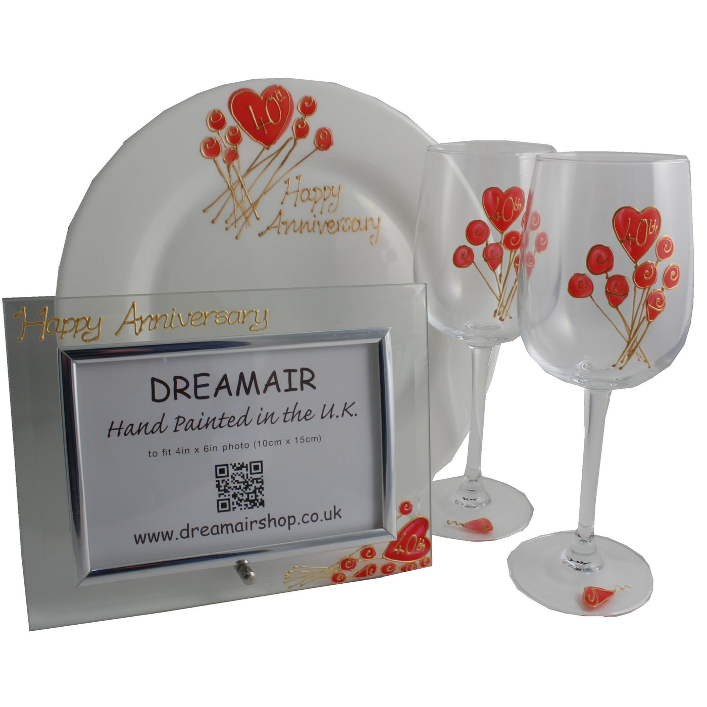 Ruby Wedding Anniversary | 40th Wedding Anniversary Luxury Gift Pack Flower Dreamair Co Uk