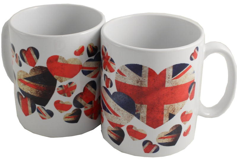 Pair of Union Jack Mugs: