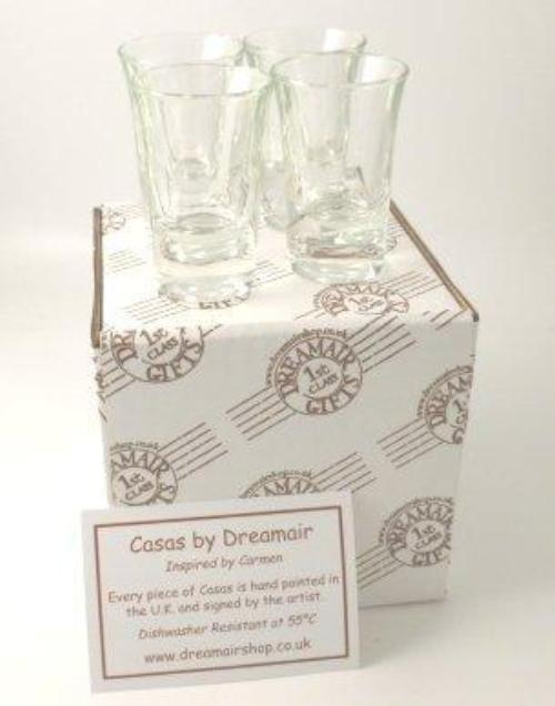 Set of 4 Shot Glasses Gift Box