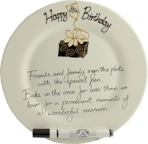 85th Birthday Gift Square Plate Box