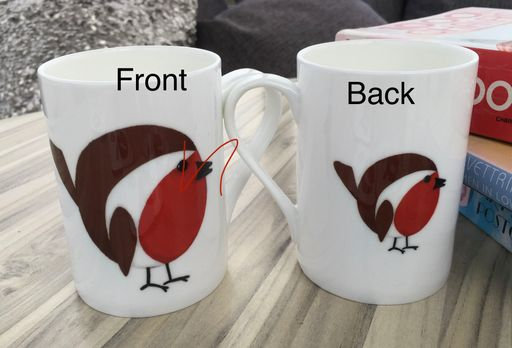 Robin Christmas Gift China Mug